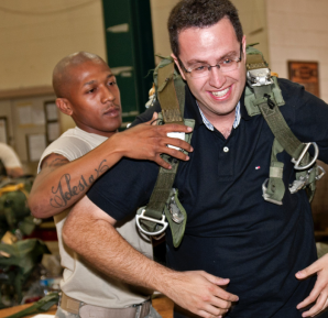 Jared Fogel at Army Base